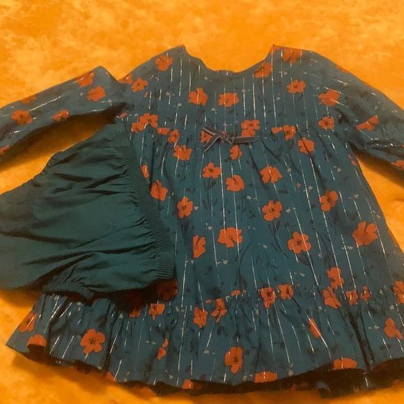 Teal Dress Baby Girl